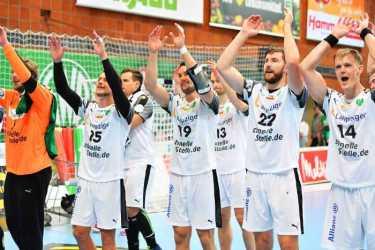 GWD Minden vs. SC DHfK Leipzig. Handball Bundesliga. Foto: Rainer Justen