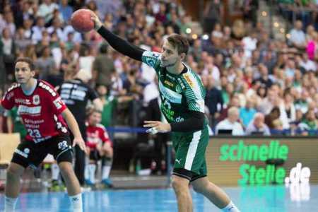 Yves Kunkel - Handball Bundesliga - SC DHfK Leipzig vs. TV Hüttenberg - Foto: Karsten Mann