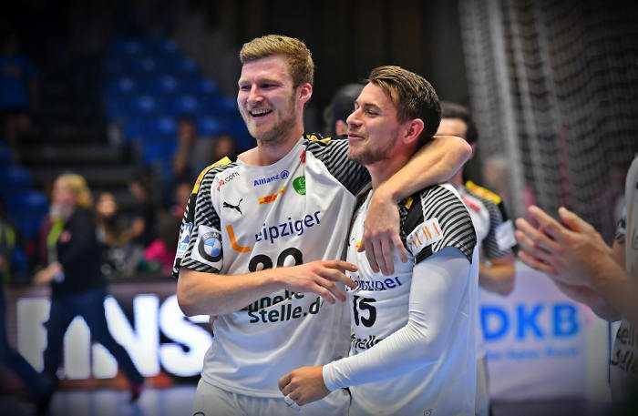 Philipp Weber und Yves Kunkel - SC DHfK Leipzig - Handball Bundesliga - DHB - bad boys - Foto: Rainer Justen