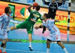 Franz Semper - SC DHfK Leipzig vs. MT Melsungen am 05.11.2017 in der ARENA Leipzig - Handball Bundesliga - Foto: Rainer Justen