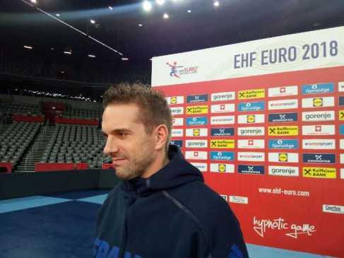 Handball EM 2018 - Guillaume Gille - Frankreich - Medientag Arena Zagreb - Foto: SPORT4FINAL