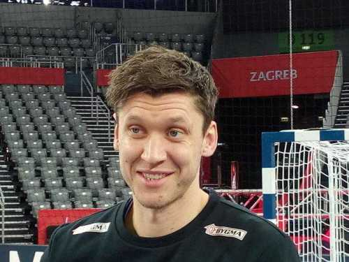 Handball EM 2018, Niklas Landin, Dänemark, Medientag, Arena Zagreb, SPORT4FINAL LIVE, Halbfinale, EHF EURO - Foto: SPORT4FINAL