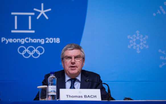 Olympia PyeongChang - SOUTH KOREA - 25th Feb 2018: IOC President Thomas Bach during the IOC President's Press Conference at the MPC. Photography by Greg Martin/IOC.