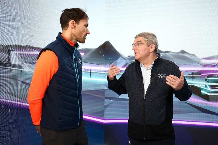 Thomas Bach und Sven Hannawald (v.r.) - Olympia PyeongChang 2018 - Olympic Winter Games - Copyright: GettyImages / Eurosport