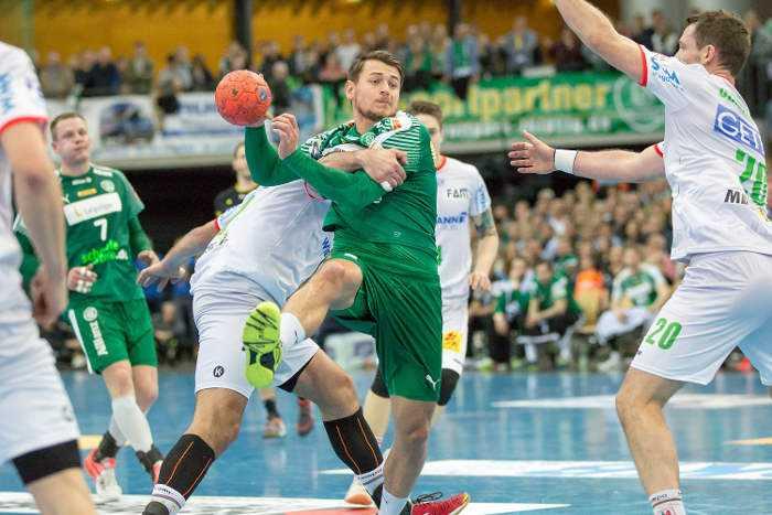 Yves Kunkel - SC DHfK Leipzig vs. SC Magdeburg - Handball Bundesliga - Foto: Karsten Mann