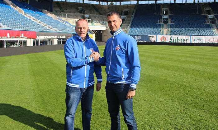 Axel Rietentiet und Stefan Karow (v.l.n.r.) - Fußball - Foto: FC Hansa Rostock /Robert Gramlow