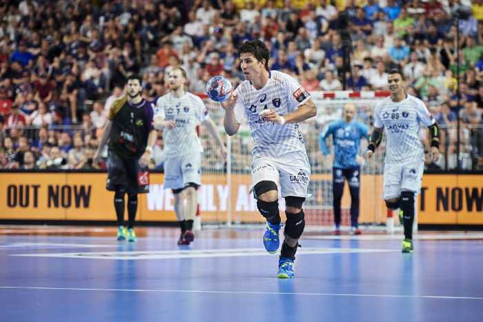 Diego Simonet MVP EHF Final4. VELUX EHF FINAL4 2018. LANXESS arena, Cologne, Germany. HBC Nantes vs Montpellier HB. © 2018 EHF / Axel Heimken, Hocevar, Lämmerhirt, Stadler