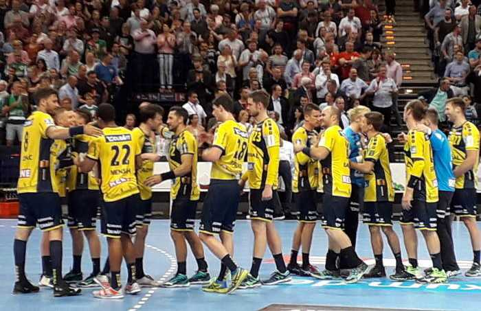 Rhein-Neckar Löwen - Handball DHB Pokal REWE Final Four 2018 - Nach Halbfinale gegen SC Magdeburg - Foto: SPORT4FINAL
