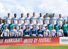 """Fußball WM 2018 Russland - DFB - Deutschland - DFB Mannschaft ist """"United by football"""" - Bewerbung UEFA EURO 2024 - Foto: DFB"""