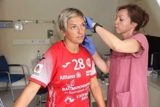 Lydia Jakubisova auf dem Laufband - Thüringer HC - Handball Bundesliga - Foto: THC-Intern