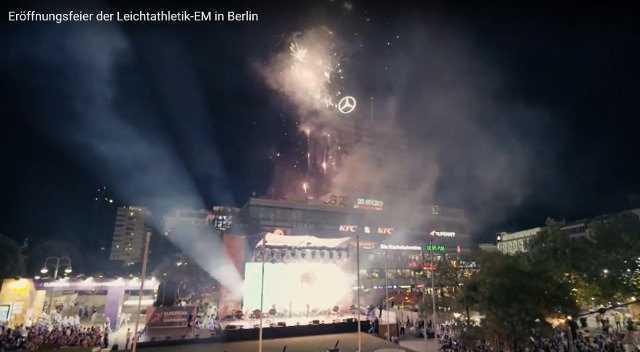 Leichtathletik EM 2018 - Eröffnungs-Feier am Berliner Breitscheidtplatz - Foto: SID Marketing