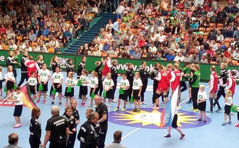 Handball EM 2018 Testspiel. Deutschland vs. Russland in Anhalt Arena Dessau-Roßlau. Foto: SPORT4FINAL