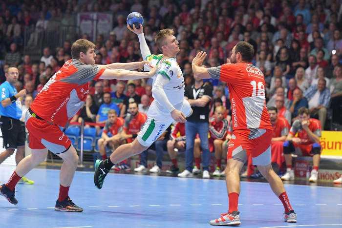 MT Melsungen vs. SC DHfK Leipzig - Franz Semper - Handball Bundesliga am 09.09.2018 in Kassel - Foto: Rainer Justen