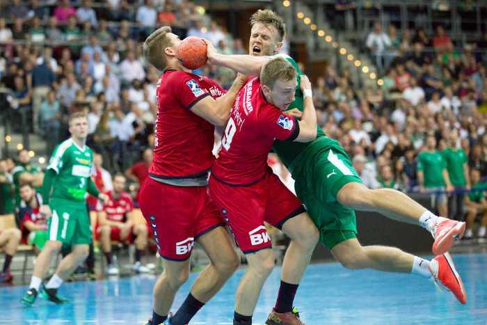 SC DHfK Leipzig vs. SG BBM Bietigheim - Niclas Pieczkowski - Handball Bundesliga - Arena Leipzig am 04.09.2018 - Foto: Karsten Mann