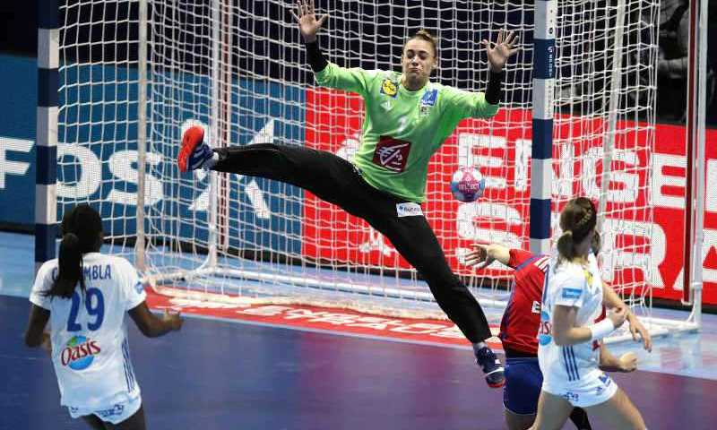 Handball EM 2018 - Laura Glauser - Frankreich vs. Serbien - Nantes am 12.12.2018 - Copyright: FFHandball / S. Pillaud