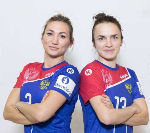 Handball EM 2018 - Polina Kuznetsova und Anna Vyakhireva - Russland - Foto: Handball Federation of Russia