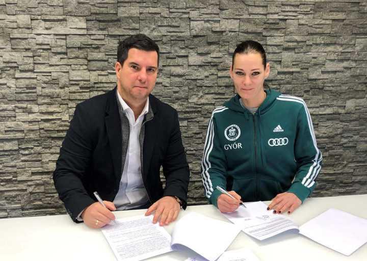 Anita Görbicz und Dr. Csaba Bartha - Foto: Györi Audi ETO KC