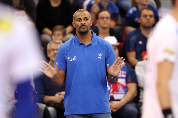 Handball WM 2019: Didier Dinart - Testspiel Frankreich vs. Slowenien am 07.01.2019 in Rouen - Copyright: FFHandball / S. Pillaud