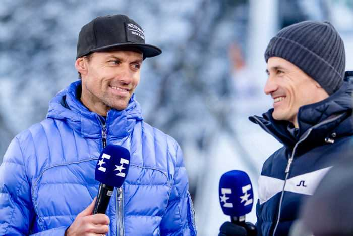 Sven Hannawald - Martin Schmitt - Eurosport - Foto: Nadine Rupp / Eurosport