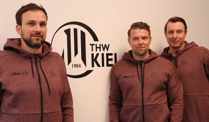 Viktor Szilagyi, Christian Sprenger, Filip Jicha (v.l.) - Foto: THW Kiel