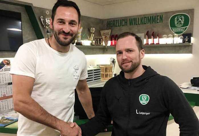 Philipp Müller und Andre Haber - Foto: SC DHfK Leipzig