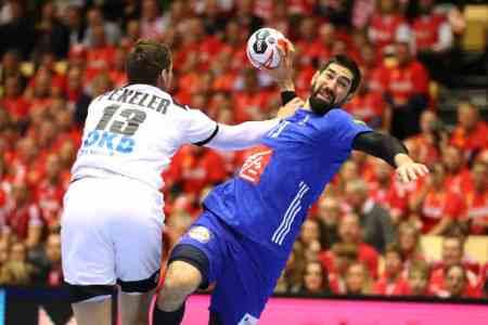 Handball WM 2019 - Frankreich vs. Deutschland um Bronze - Hendrik Pekeler und Nikola Karabatic - Copyright: FFHandball / S. Pillaud