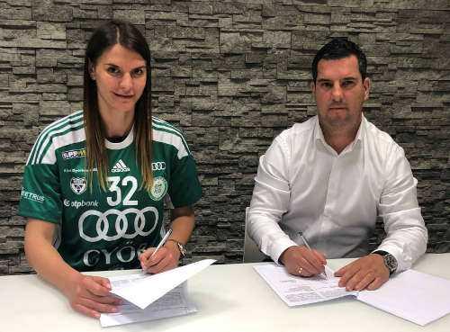 Katarina Bulatovic und Dr. Csaba Bartha - Foto: Györi Audi ETO KC
