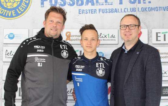 Björn Joppe, Maximilian Pommer, Martin Mieth (v.l.) - Foto: 1. FC Lok Leipzig