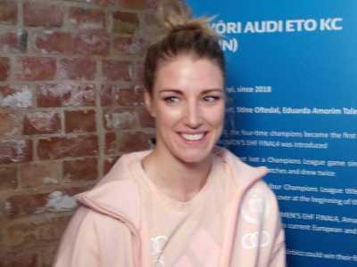 Handball EHF Champions League Final4 Budapest 2019: Cornelia Nycke Groot (Györi Audi ETO KC) im SPORT4FINAL-Interview. Foto: SPORT4FINAL