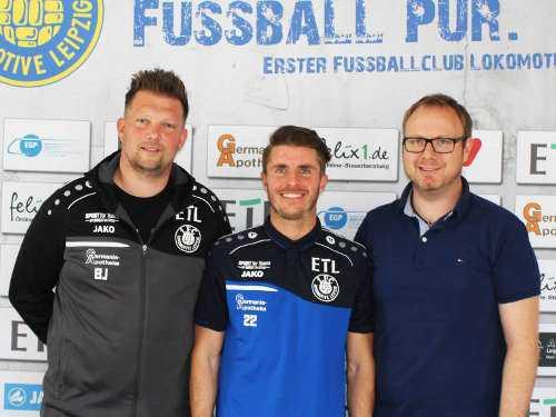 Björn Joppe, Maik Salewski, Martin Mieth (v.l.) - Foto: 1. FC Lok Leipzig