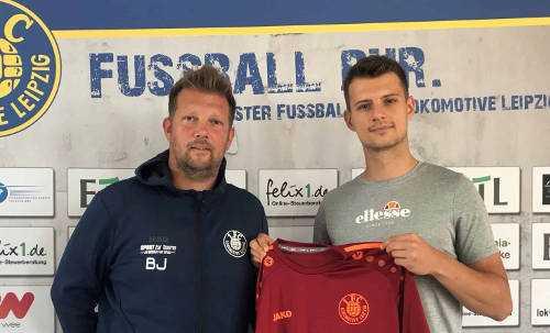 Björn Joppe und Berti Herbert Schötterl - Foto: 1. FC Lok Leipzig