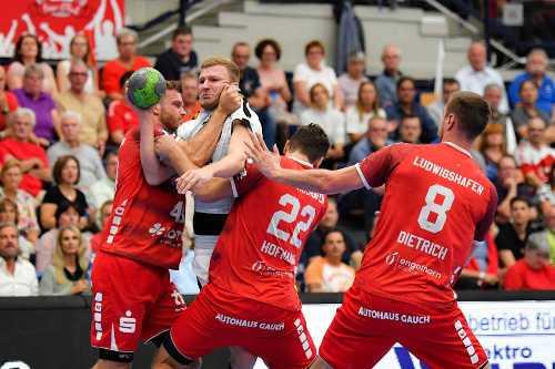 Philipp Weber - Die Eulen Ludwigshafen vs. SC DHfK Leipzig - Foto: Rainer Justen