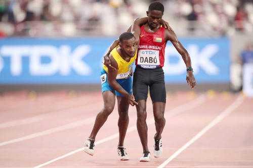 Leichtathletik WM 2019 - Braima Sundar Dabo und Jonathan Busby - Foto: © Getty Images for IAAF
