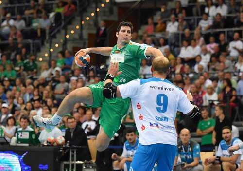 Marko Mamic - SC DHfK Leipzig vs. TVB Stuttgart - Arena Leipzig - Handball Bundesliga - 03.09.2019 - Foto: Rainer Justen