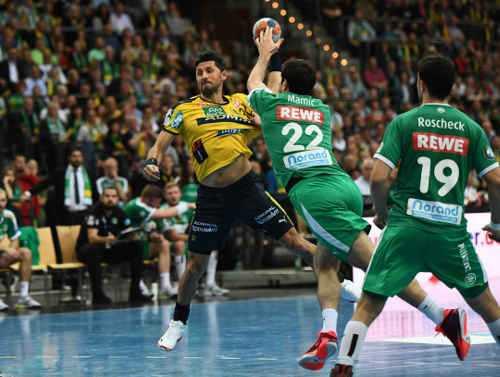 Alexander Petersson - SC DHfK Leipzig vs. Rhein-Neckar Löwen - Handball Bundesliga am 14.11.2019 - Foto: Rainer Justen