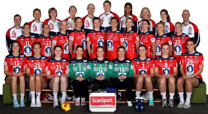Handball WM 2019 - Team Norwegen - Copyright: Svein A. Svendsen / NHF