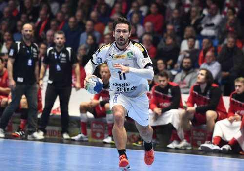 Lukas Binder - MT Melsungen vs. SC DHfK Leipzig - Handball Bundesliga am 09.11.2019 in Kassel - Foto: Rainer Justen