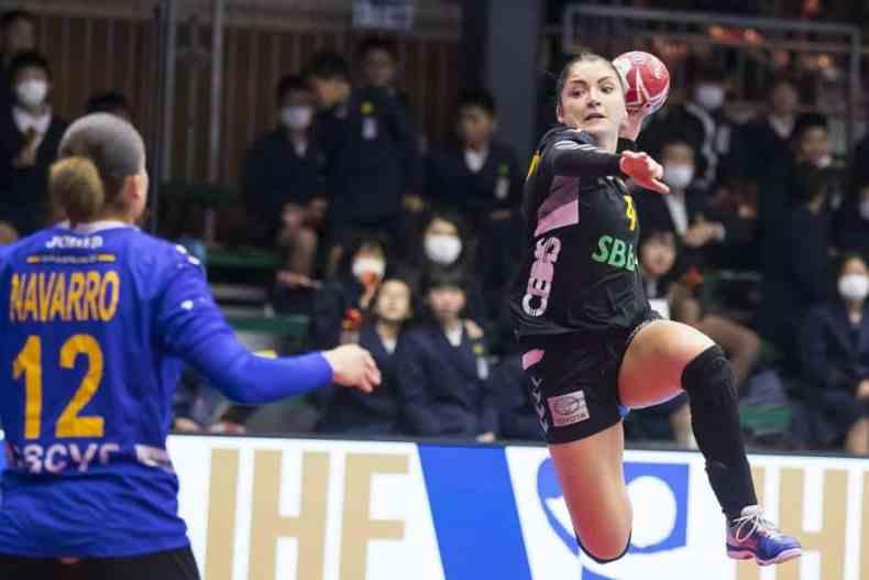 Handball WM 2019 - Silvia Navarro und Jovanka Radicevic - Spanien vs. Montenegro - Copyright: IHF
