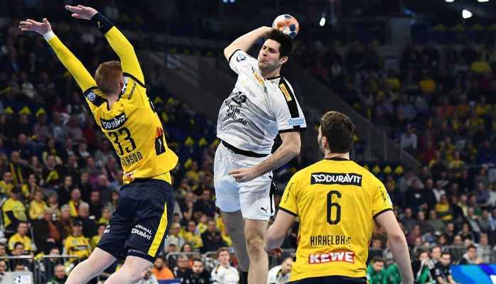 Marko Mamic - SC DHfK Leipzig vs. Rhein-Neckar Löwen - Handball Bundesliga am 03.03.2020 in Mannheim - Foto: Rainer Justen