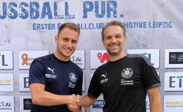 Denis Jäpel und Almedin Civa - Foto: 1. FC Lok Leipzig