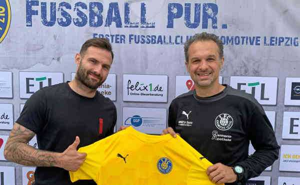 Sascha Pfeffer und Almedin Civa - Foto: 1. FC Lok Leipzig
