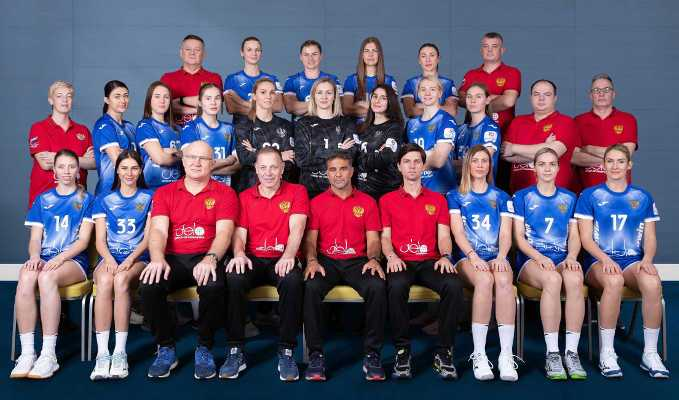 Handball EM 2020 Frauen - Team Russland Russia - Copyright: Press-Service of HFR