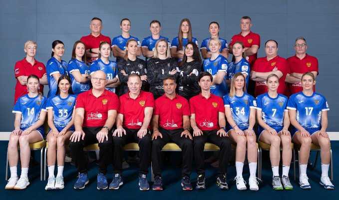 Handball EM 2020 Frauen - Team Russland Russia - Copyright: Press-Service of HFR