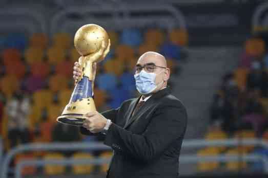 Handball WM 2021 Ägypten Abschlussfeier - IHF Weltmeister Pokal - Copyright: © IHF / Egypt 2021