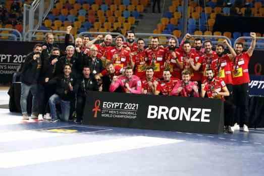 Handball WM 2021 Ägypten Abschlussfeier - Spanien Bronze - Copyright: © IHF / Egypt 2021