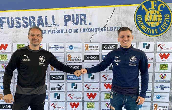 Almedin Civa und Damir Mehmedovic (v.l.) - Foto: 1. FC Lok Leipzig