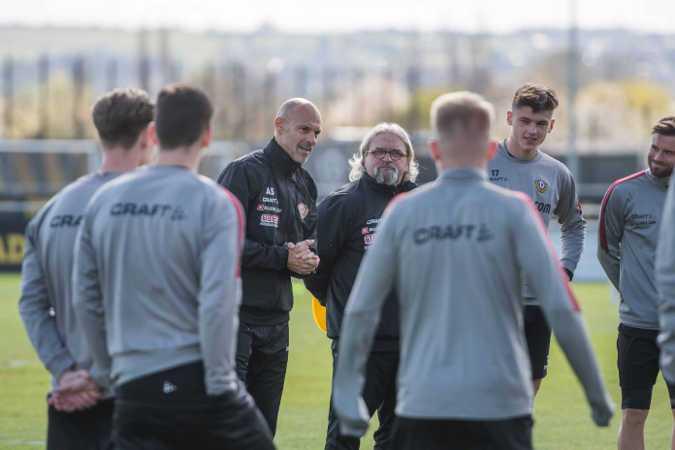 Dynamo Dresden Training - Alexander Schmidt - Fußball 3. Liga - Foto: SGD/ Dennis Hetzschold