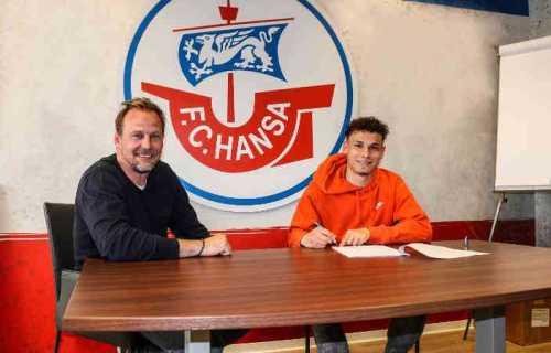Fußball: Martin Pieckenhagen und Lukas Scherff (v.l.) - Foto: © FC Hansa Rostock