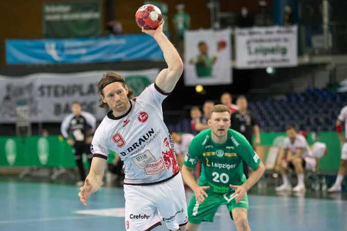 Handball Bundesliga - SC DHfK Leipzig vs. MT Melsungen - Tobias Reichmann und Philipp Weber - Foto: Karsten Mann