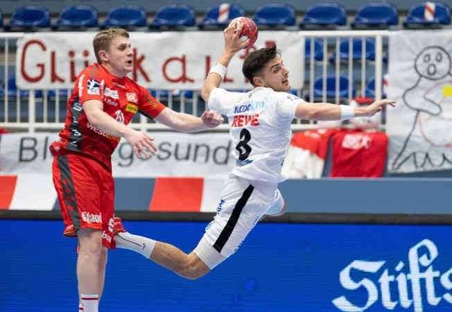Handball Bundesliga - TUSEM Essen vs. SC DHfK Leipzig - Lucas Krzikalla - Foto: Klaus Trotter
